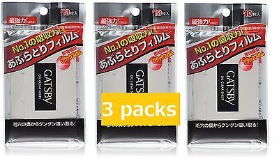 Gatsby JAPAN strong Oil Blotting Super absorbent Film Paper [for Men]#70×3 packs