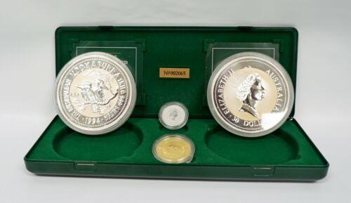 1994 Australia Gold - Silver - Platinum Kookaburra & Koala Set only 15,000 Sets