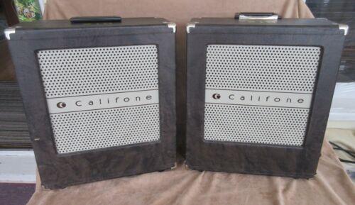 Pair of Vintage Califone Speakers, working
