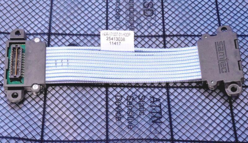 "Samtec 5"" High Speed HQDP 0.50mm 20 Pos Q-Pairs® Twinax Cable Mate w/ QSH & QTH"