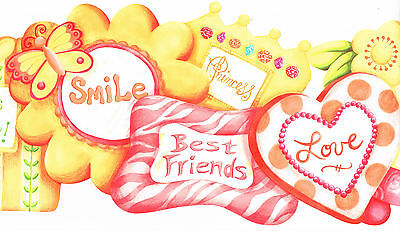 Die-Cut Best Friends Smile Princes Girls Rule Friends Ever Wallpaper bordeR (Best Wall Borders)