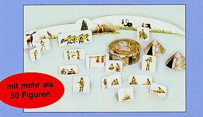 Jäger der Eiszeit 1:87 Bastelbogen über 50 Figuren Tiere Zelt Tundra 40.000 v.Ch