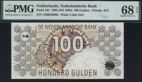 Netherlands 100 Gulden 1992 P.101 PMG 68 EPQ