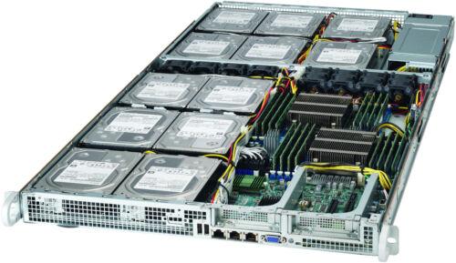 "Supermicro 1U 12x 3.5"" Bay LFF X9DRFF-7TG+ Xeon E5-2620 V2 32GB 6017R-73THDP+"