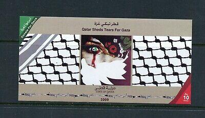 Y232  Qatar  2009   Tears for Gaza    sheet   MNH