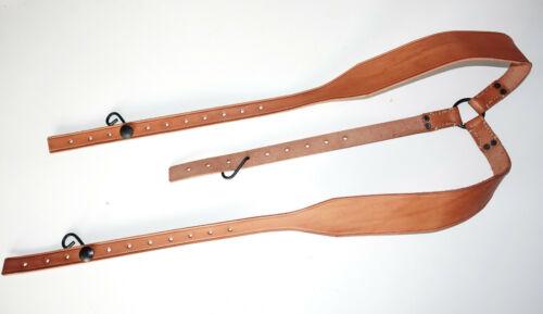 FRENCH ARMY WW1 era repro leather Y-straps Czech made