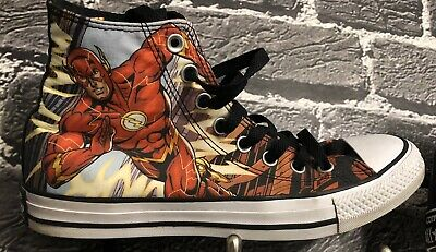 Converse All Star The Flash DC High Top Chuck Taylor Sneakers Men 6.5 Women 8.5](Converse All Star Cheap)