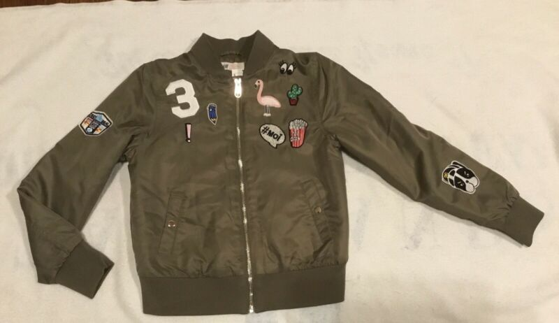 H&M Green Bomber Jacket Size 12-13Y  New With Tags