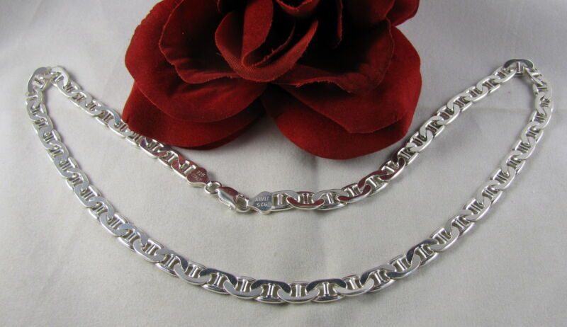 """Sterling Silver AGI Italy 20"""" Chain Necklace FERAL  CAT RESCUE"""