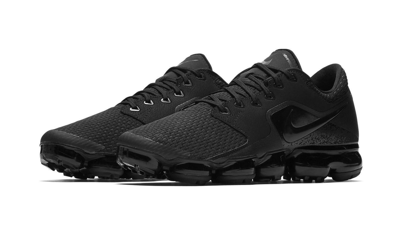 c0554524a08 Nike Air Vapormax CS Mens Triple Black Running Trainer Sneaker ...