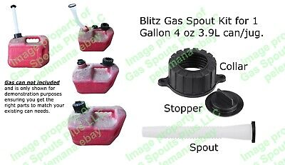 Blitz Gas Spout Kit For 1 Gallon-4 Oz 3.9l 50805 Gas Can Spout Stopper Collar