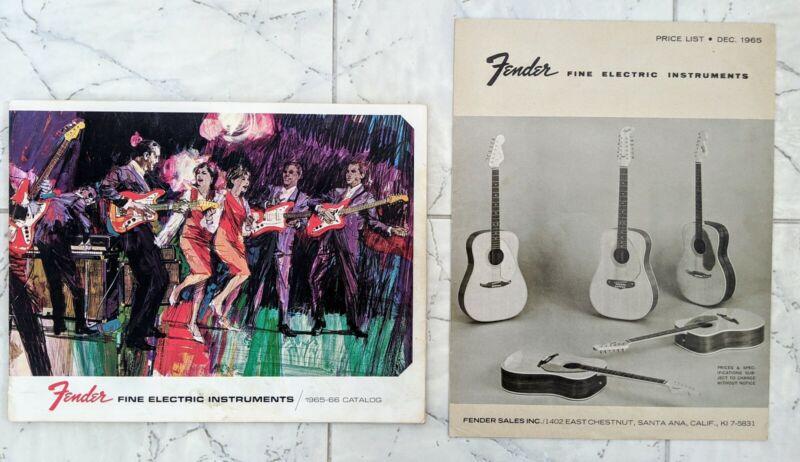 Original 1965 1966 Fender Fine Electric Instruments Catalog/Dec 1965 price list