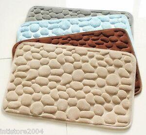 TAPPETO MEMORY lattice morbido ANTISCIVOLO tappetino bagno SASSI CIOTTOLI STONE  eBay