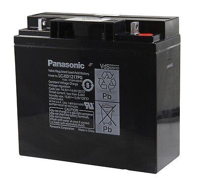 PANASONIC Blei Gel Accu 12V 17Ah LC-XD1217PG APC RBC7 Aku Acku Battery...