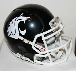 2017 Washington State Cougars Custom Riddell Mini Helmet vs USC