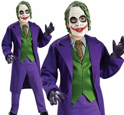 Der Joker Kinder Deluxe Kostüm Batman Bösewicht Jungen Halloween Kostüm + - Böse Kinder Kostüm