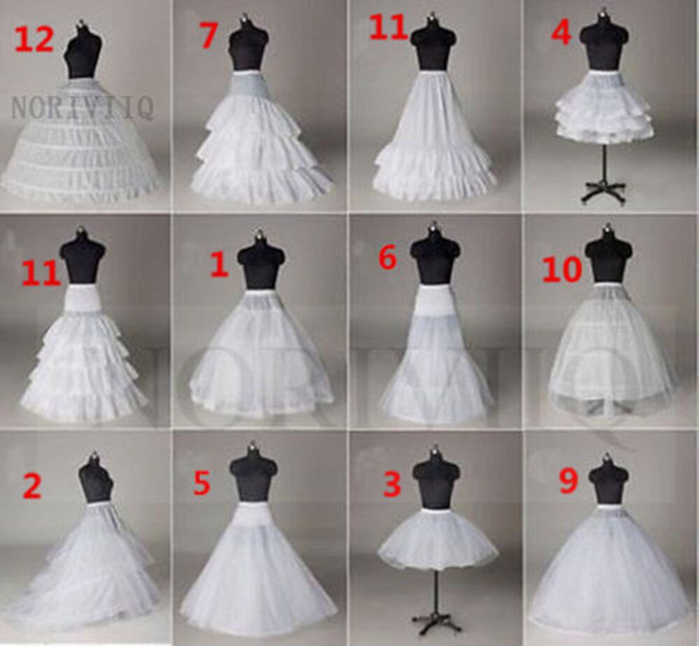 Eine Linie Petticoat weiß kurz underskirt Unterröcke Braut Krinoline Brautkleid