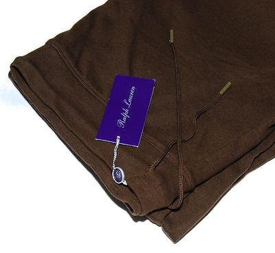 Polo Ralph Lauren Purple Label Men Brown Silk USA Sweatpants Pants Large