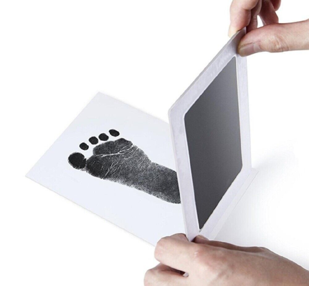 Baby Safe Print Ink Pad Touch Nontoxic  Inkless Footprint Handprint Kit Black US Baby