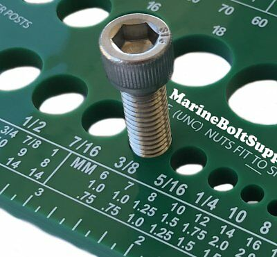 Screw Bolt Nut Thread Measure Gauge Size Checker Standard Metric Colorgreen