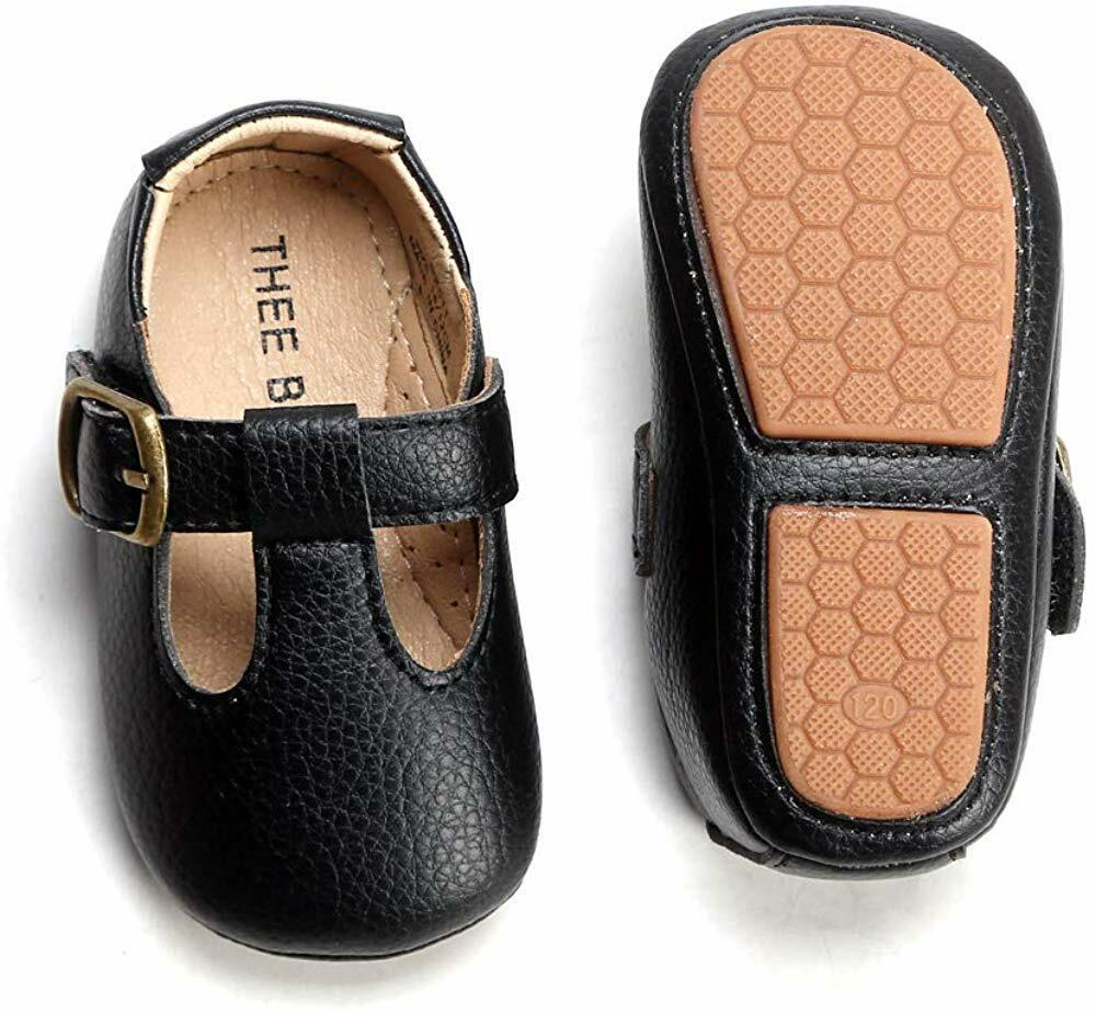 THEE BRON Infant Toddler Baby Soft Sole Leather Shoes for Gi