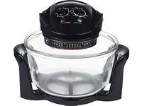 Andrew James Premium 12 Litre Digital Halogen Oven with Hinged Lid - Black
