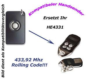 433Mhz Handsender Fernbedienung kompatibel zu Garagentorantrieb Homentry HE60AS