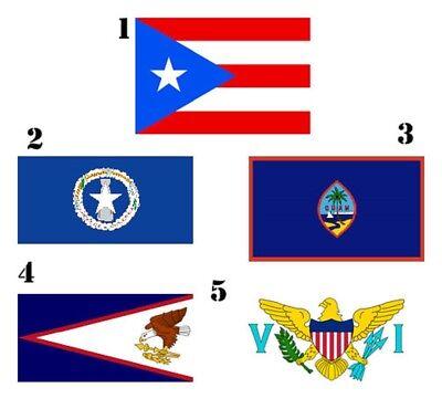 2x3 0.6mx3 'Us Territorien Vereinigte Staaten 5 Packung Flagge Großhandel Set