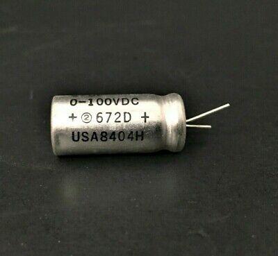 2x 27uf 100vdc - Extralytic - Sprague Capacitor 672d276h100dm2c - Nos