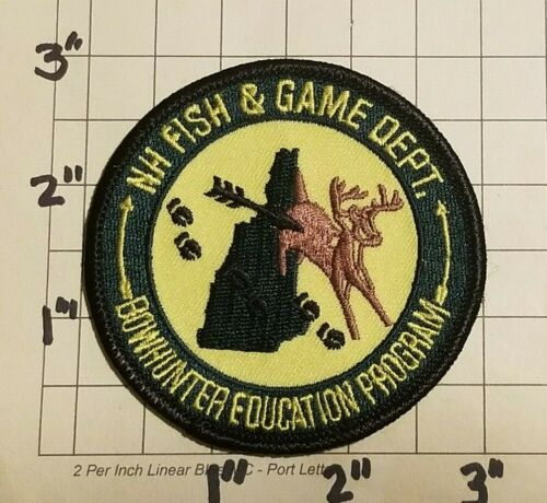 NEW HAMPSHIRE Fish & Game Department Bowhunter education Program Patch ***NEW***