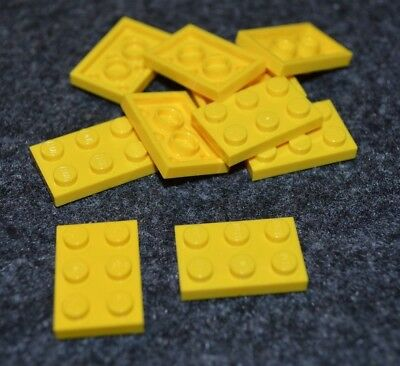 (10) 2x3 Yellow Standard Plate Brick Bricks ~  Lego  ~ NEW ~