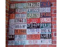 Number plate canvas wall art