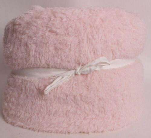 Pottery Barn PB Teen Cozy Recycled sherpa bed blanket, full queen powdered blush