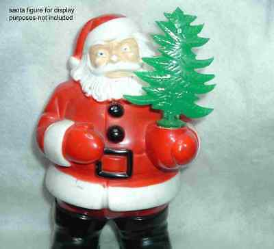 REPLACEMENT PLASTIC TREE for VINTAGE CHRISTMAS LIGHTED ROYAL SANTA or SNOWMAN