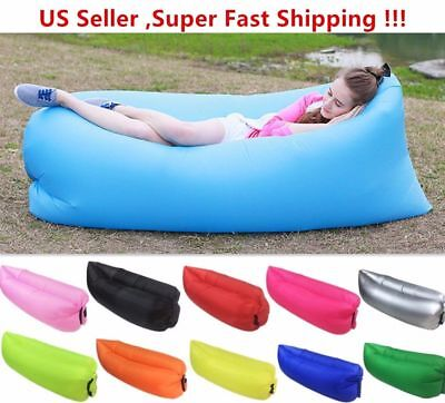 Air Sleeping Bag Lazy Chair Inflatable Lounge AirBeds Beach Sofa Bed Water Float (Beach Inflatables)