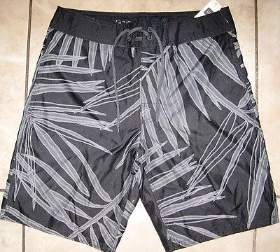 Gap Mens Black & Gray Swim Trunks Board S