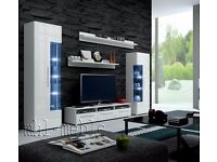 TV Wall Unit Roma / Free LED / TV Stand / Living room furniture set / High Gloss