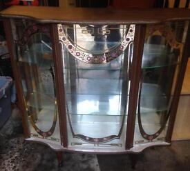 Vintage denmor furniture 1950/60 china display cabinet