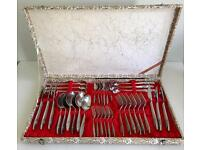 Boxed set of 36 Seyei China cutlery in Presentation Box c.1965