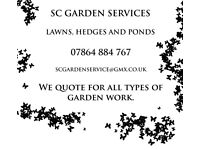 Gardening Service Lawns, Hedges and Ponds