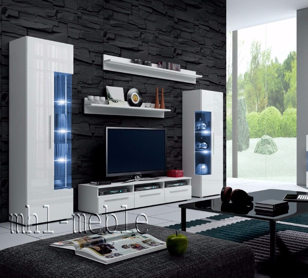 TV Wall Unit Roma / Free LED / TV Stand / Living Room