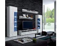 TV Wall Unit Roma / Free LED / TV Stand / Living room furniture set / High Gloss