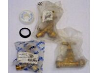 PLUMBERS BUNDLE 3 BRASS OUTDOOR TAPS SEAL & PTFE TAPE HOSE PIPE TAP OUTLET HEAD*