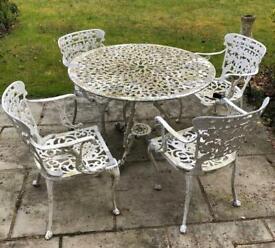 White cast Iron Garden Furniture set
