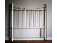 For Sale Antique white metal headboard