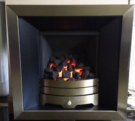 Legend Vantage Hole in the Wall 3.9 KW Gas Fire (Brushed Steel)