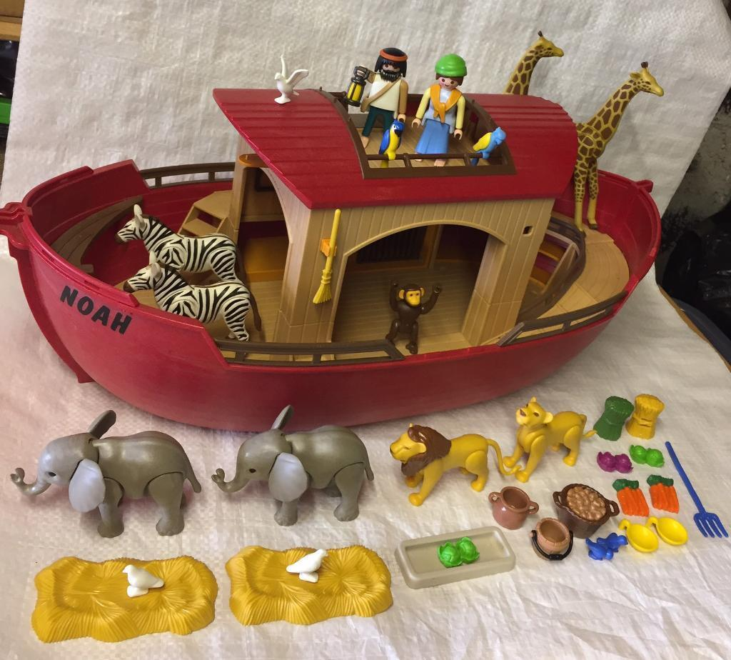 playmobil noah u0027s ark playset figures animals boat lego toy 5276