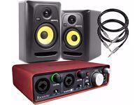 KRK Rokit 5 studio monitors bundle.
