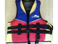 Childs Buoyancy Aid.Zip+ Multi straps.Leg strap stops jacket moving in the water
