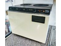 Baby Belling table top electric cooker - cream / brown